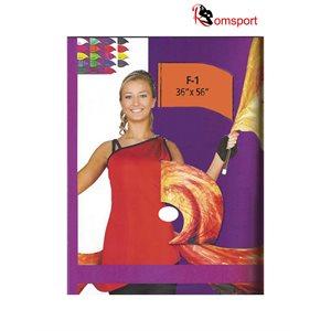 Arc-shaped Dance Flags - Silk Polyester - Romsport - NRF-ASS3656