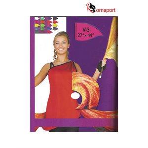 Teardrop shaped Poly Silk Flags - Romsports NRF-TDS2744