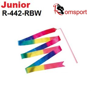Romsports Multi Rainbow Ribbon (2 m) & Stick (30 cm) Set R-442-RBW